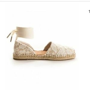 Toms Katalina Birch Floral Lace Espadrille NEW